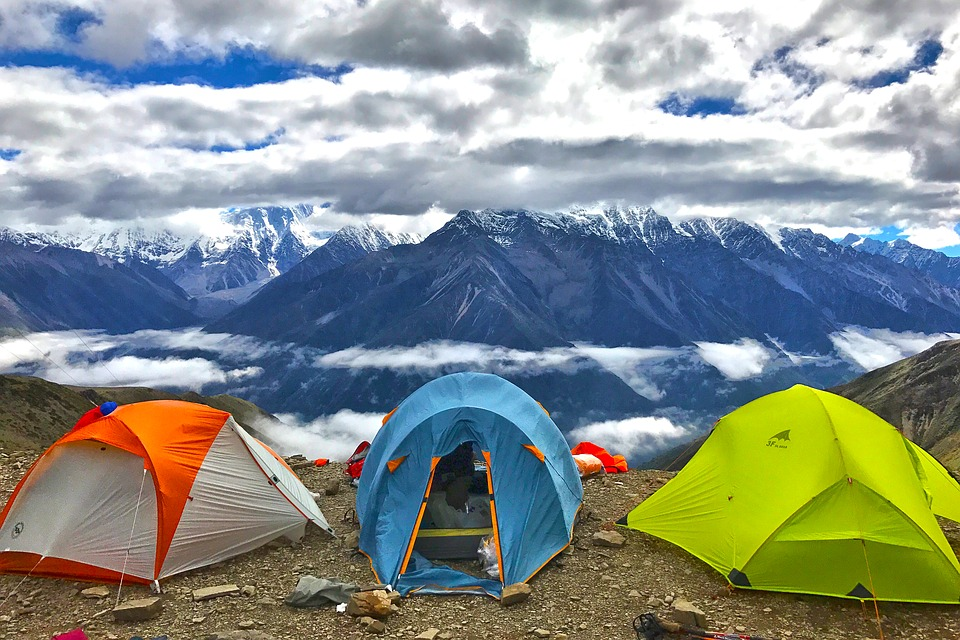 camping -ski - montagne